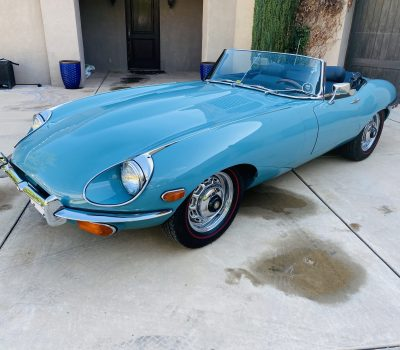 1969 Jaguar XKE Series 2 OTS Roadster- Sky Blue-Dark Blue