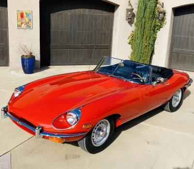 1970 Jaguar XKE Series 2 OTS Roadster- Red-Black