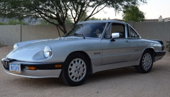 1987 Alfa Romeo Quadrifoglio Veloce Spider, 46k Miles, Three Owners, Both Tops, A/C, Gorgeous!