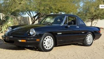 1987 Alfa Romeo Spider Quadrifologio, 45k Miles, Last Owner 24 Years, Black, Needs TLC!