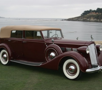 1937 Packard Super Eight Convertible Sedan, Pebble Beach