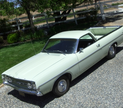 """1968 Ford Ranchero GT, """"Black Plate"""" Calif Car, 91k mi., 1 of 16"""