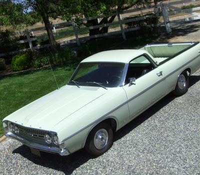"1968 Ford Ranchero GT, ""Black Plate"" 91k mi., 1 of 16"