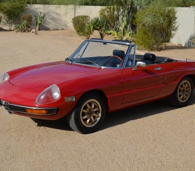 1972 Alfa Romeo Spider, Factory Hardtop, Red, One Owner 32 Years!