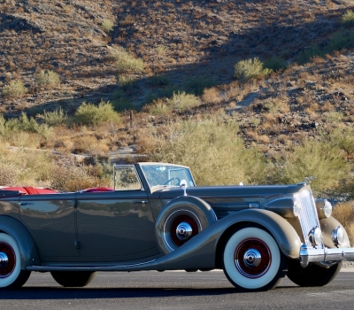 1936 Packard Twelve Convertible Sedan with Division
