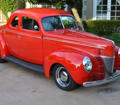 1940 Ford Club Coupe Custom, All Steel, Restored, 350 V8, A/C, Gorgeous!