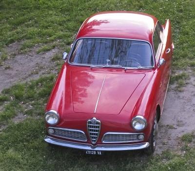 1959 Alfa Romeo, Giulietta Sprint, CA , Red & Rust Free!